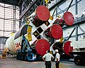 Apollo 12 Saturn V components in the Vertical Assembly Building (VAB).jpg
