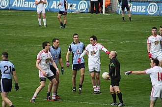 Gaelic football - A league game between Dublin and Tyrone