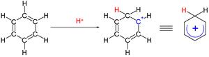 Carbenium ion - benzenium ion