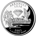Arkansas quarter, reverse side, 2003.png