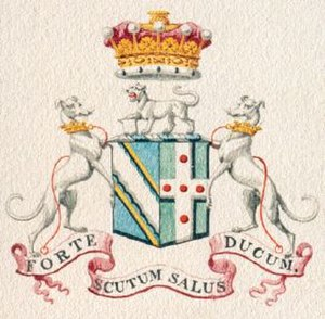 Hugh Fortescue, 1st Earl Fortescue - Image: Arms 1st Earl Fortescue