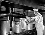 Army Cook Steaming Cauliflower, Pepperell Manufacturing Company (11327235754).jpg