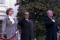 Arrival ceremony for state visit of Josip Tito, President of Yugoslavia - NARA - 178242