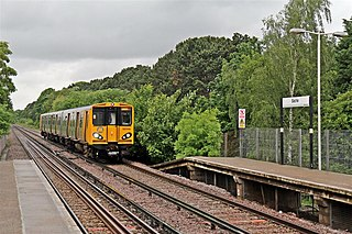 Bache railway station Railway station on the Chester branch of the Wirral line in England