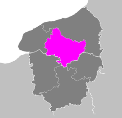 Location of Rouen in Haute-Normandie