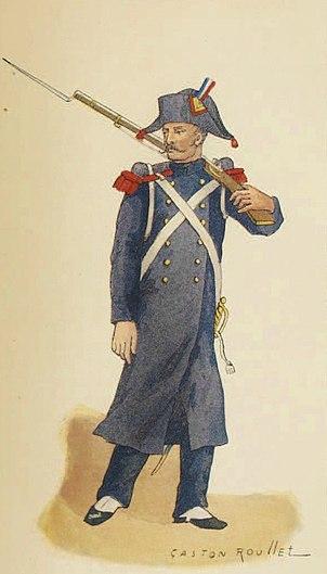 Artilleur de marine en tenue de campagne, 1813.jpg