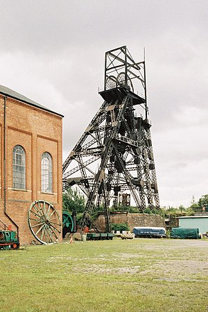 Astley, Greater Manchester - Astley Green pit head gear and engine house