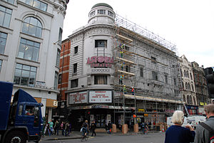 London Astoria - Workmen preparing the building for demolition in October 2008.