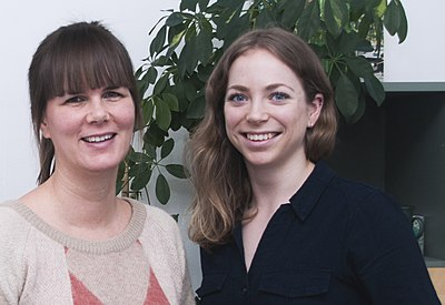 Astrid and Asa, staff at Wikimedia Norge (cropped).jpg