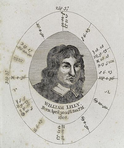 Astrologic Chart: Astrological birth chart for William Lilly Wellcome L0040342 ,Chart