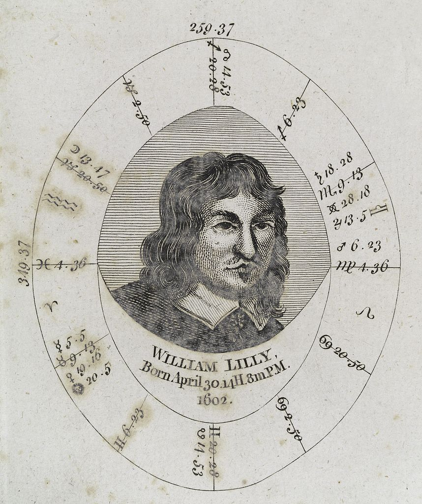 Horoscope Birth Chart: Astrological birth chart for William Lilly Wellcome L0040342 ,Chart