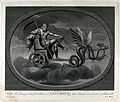 Astronomy; Saturn with his scythe, riding in his chariot. En Wellcome V0024875.jpg