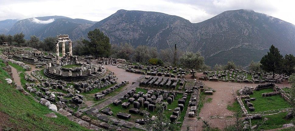 Athina Pronaia Sanctuary at Delphi