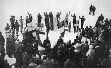 Athlete's oath at 1924 Winter Olympics.jpg