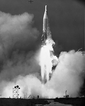 595th Command and Control Group - Atlas ICBM test launch at Vandenberg AFB, Calif