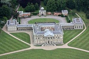 Attingham Park - Attingham Hall from the air.