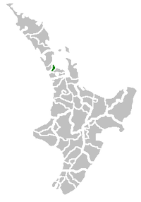 Auckland City's location in the North Island