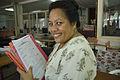 Australian Scholarship recipient ,Commissioner of Taxation Matereta Raiman. Kiribati 2007. Photo- Lorrie Graham (10674905806).jpg