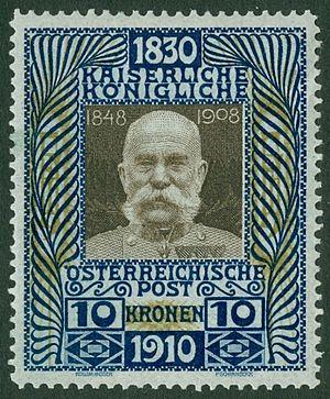 Österreichische Post - Image: Austria 1910 10k Franz Josef