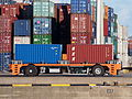 Automated guided vehicle container mover at Port of Rotterdam.JPG