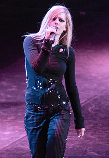 Avril Lavigne in concerto a Pechino per il The Best Damn Tour, 2008