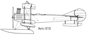 Avro 510 - Image: Avro 510 left