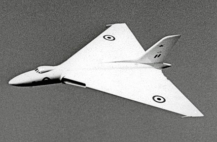 "The prototype Vulcan VX770 in 1954, retaining the original ""pure delta"" wing shape"
