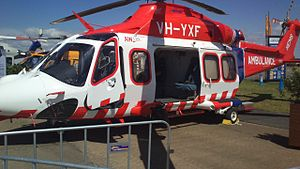 Ambulance Victoria - AgustaWestland AW139 at Avalon Airport in 2015