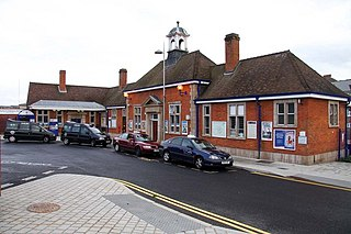 railway station in Aylesbury, Buckinghamshire, England