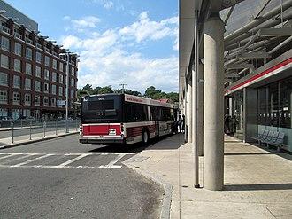 Brockton Area Transit Authority - Image: BAT bus at Ashmont station, August 2016