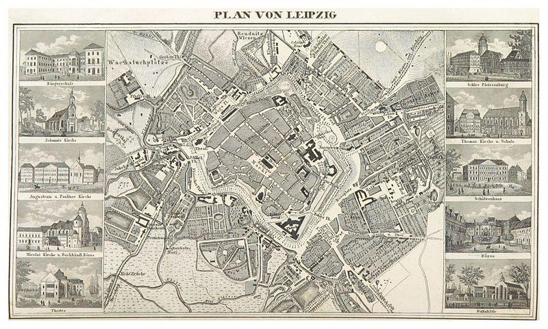 File:BECHSTEIN(1844) p234 Plan von Leipzig.jpg