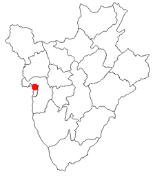 Location of Bujumbura in Burundi