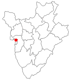 Location of Bujumbura
