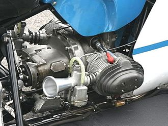 Sidecar World Championship - BMW RS54 Rennsport 500 cc engine as installed in a modern replica of Max Deubel's 1960s low sitter