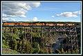 BNSF train @Two Medicine Trestle - panoramio.jpg