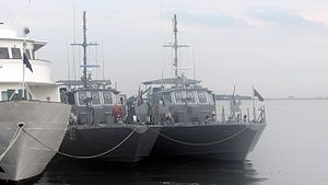 BRP Liberato Picar (PG-377) - Image: BRP Liberato Picar and BRP Heracleo Alano at Pier 13