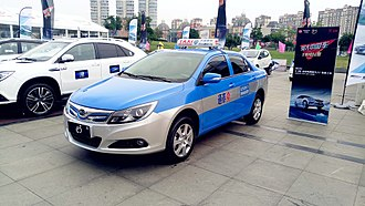 BYD e5 - Image: BYD e 5 Electric Taxicab in Bengbu