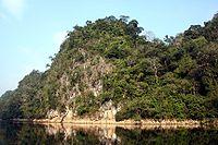 Limestone cliff in Ba Be