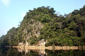 Ba Bể National Park - Limestone cliffs on Ba Bể Lake