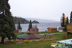 Babine Lake with huts (321870589).jpg