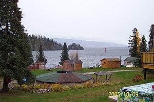 Babine Lake - Image: Babine Lake with huts (321870589)