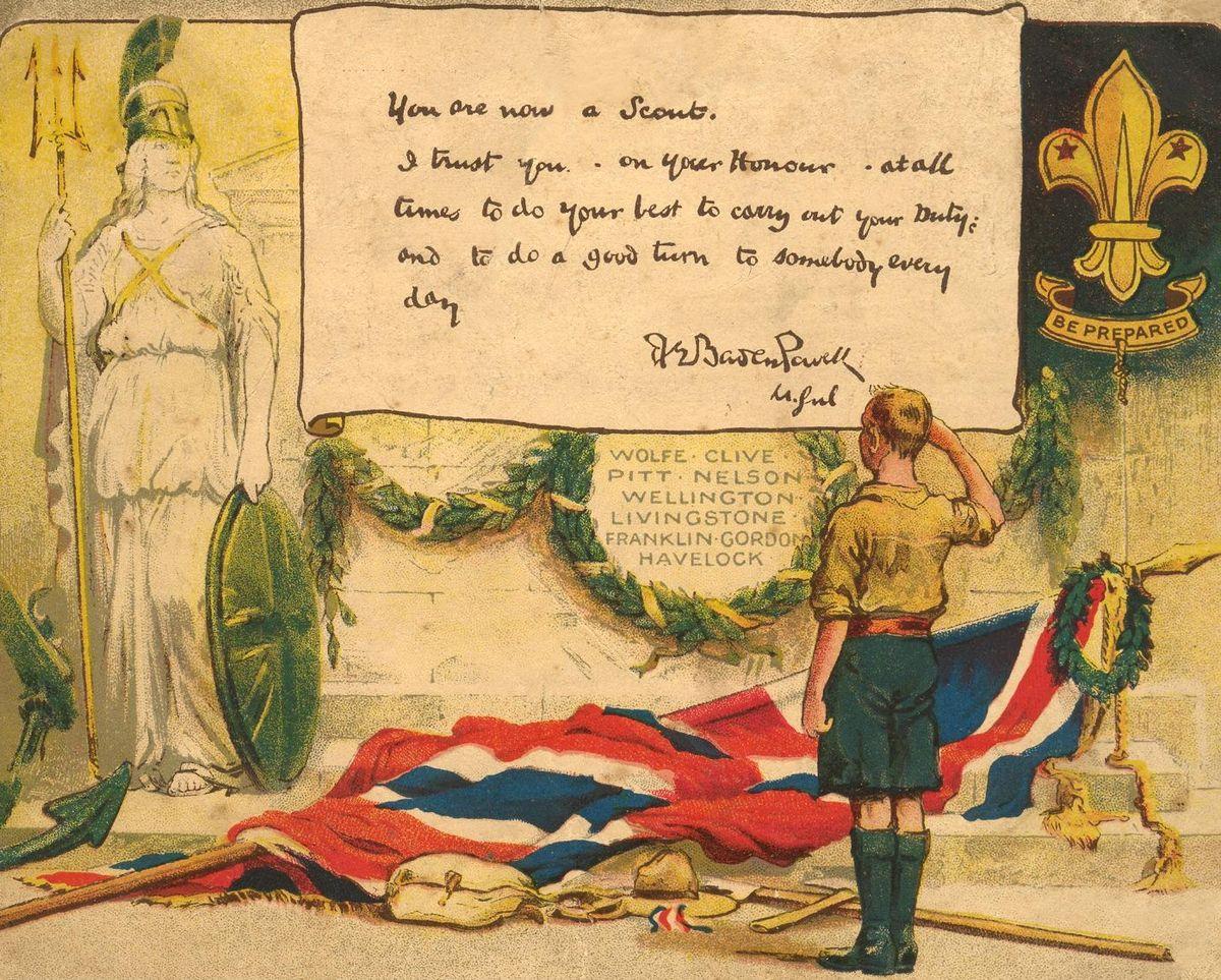 File Baden Powell Scouting Certificate 1914 Edit1 Jpg Wikimedia