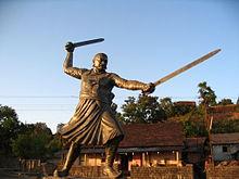 Baji Prabhu Deshpande Statue in Panhala Fort.jpg
