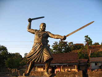 Battle of Pavan Khind - Baji Prabhu Deshpande Statue in Panhala Fort
