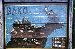 Bako National Park - Bako National Park trail map at park headquarters.