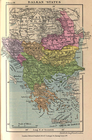 History of Bulgaria (1878–1946) - Balkan states around 1900.