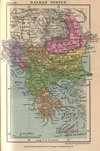 History of Bulgaria (1878–1946) - Balkan states around 1900.