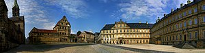 Prince-Bishopric of Bamberg - Bamberg Cathedral with the old and new palaces of the prince-bishops
