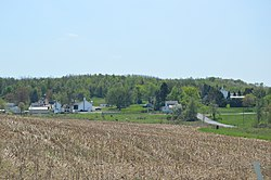 Fields and houses at Smithport