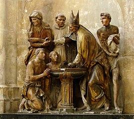 Baptême de saint Augustin par saint Ambroise